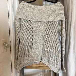 JACK BY BB DAKOTA Cream Off-the-Shoulder Knit